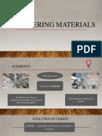cement materials