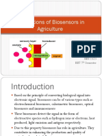 Applications of Biosensors in Agriculture