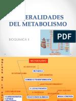 Clase I. Generalidades Del Metabolismo II 2019