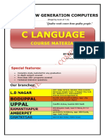 C Language by Ramesh Sir