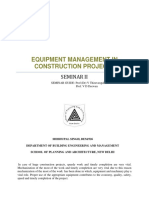 Equipment for construction