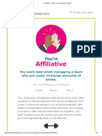 I'm Affiliative - What's Your Management Style