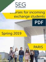 IESEG Incoming Course Catalogue Paris