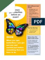 Butterflies Idiom Class Poster