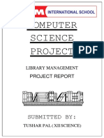 Library Managment Project by Tushar {C++}