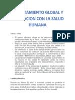 Calentamiento Global y La Relacion Con La Salud Humana