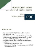 Optimal Order Types