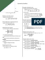 Resumo de geometria analítica