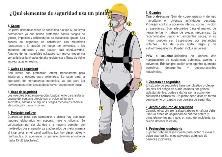 Equipo De Proteccion Personal Para Pintor Casco Pinturas