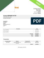 Invoice WFWEF 671707