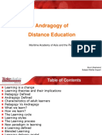 Andragogy of Distance Education PPT
