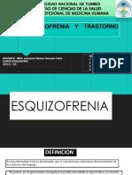 Esquizofrenia y Trastorno Del Delirio