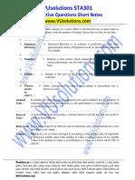 STA301SubjectiveQuestionsShortNotesDOWNLOADPDF