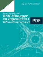 Catálogo Máster Internacional BIM Manager en Ingeniería Civil Infraestructuras y GIS