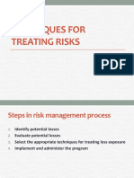 Techniques in treating risk