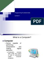 Lecture _1 Programming Fundamentals
