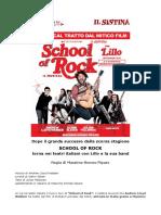 Comunicato Stampa SCHOOL of ROCK