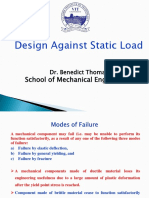 Design against static load