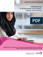 National Report  Malaysia on Child Marriage