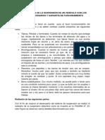 Comprobación de La Suspensión de Un Vehículo Con Los Ajustes Necesarios y Garantía de Funcionamiento