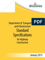 Standard Speficification - Department of Transportation and Infrastructure 2015