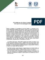 L8 Torres, 2010, El Gobierno de Ruiz Cortines (1)
