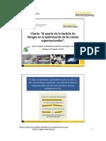 Charla Gestión de Riesgos en La Optimización de Los Costos