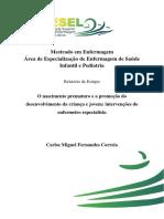 O nascimento prematuro e a promoção do desenvolvimento da criança e jovem intervenções do enfermeiro especialista