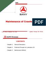 Maintenance of Crawl Crane