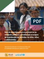 Aplicación de las Directrices de las Naciones Unidas sobre las modalidades alternativas de cuidado de los niños