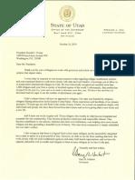 Trump, President Refugee Letter