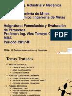12. Evaluación Económica y Financiera