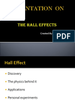 The Hall Effects Presentation