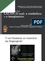 Lacan - Simbolico Real e Imaginario - TRABALHO
