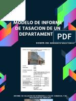 Informe de Tasacion de Un Departamento