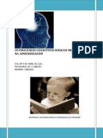 Processos Cognitivos Básicos e as Suas Implicações Educativas