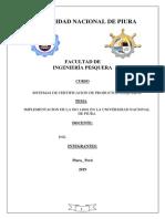 Implementación de La ISO 14001 en La Universidad Nacional de Piura