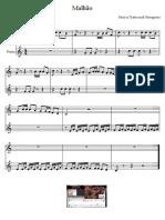 Malhao - Musica Tradicional - Partitura Educacao Musical Jose Galvao