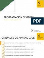 UPN - Programación de Obras UNIDAD I