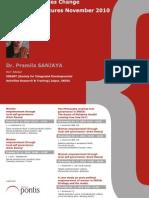 Druhá séria prednášok o rozvojovej pomoci s Dr. Pramilou Sanjaya