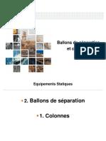 distillation et ballons