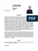Stanislav Pozhvaniuk Resume 2019
