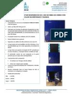 06 Contenedor Recolectar Desperdicios de 1 m3 de Fibra de Vidrio Con Color Incorporado y Ruedas