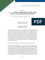 La autorización de utilización de una obra ajena en la Ley de Propiedad Intelectual chilena