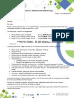Cotización Mantenimiento y Reparación de Montacarga EDELKENIE SAC