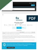 Registrar Surgery Job, FRS Recruitment - IrishJobs.ie