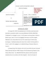 Armitage Sentencing Order