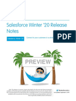 Salesforce Winter 20 Release Notes