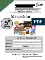 5-ERAI-Matematica Quinto Grado Primaria