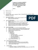 Watertown City School District Board of Education Nov. 5, 2019 agenda